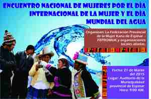 Afiche encuentro de mujeres en Espinar2